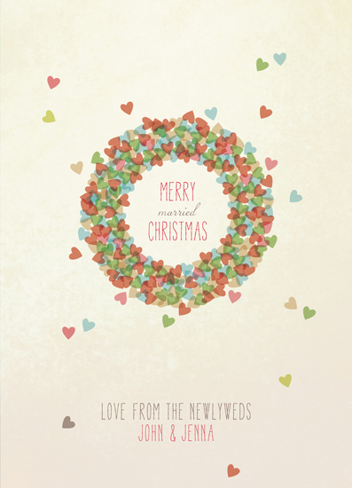 non-photo holiday cards - Married Wreath by Ana Gonzalez