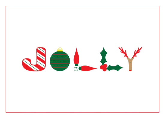 non-photo holiday cards - Jolly by Nicole C