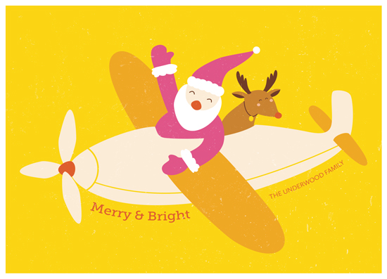 non-photo holiday cards - Santa & Rudolph by Anais Lee