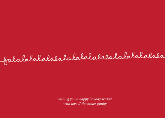 non-photo holiday cards - Falala Loops by Paper Lovely