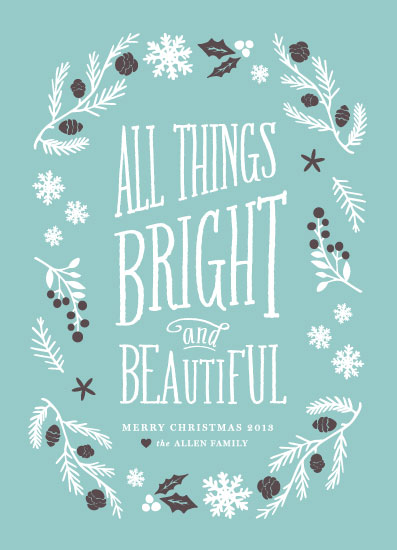 non-photo holiday cards - Bright & Beautiful by Olivia Raufman