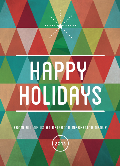 business holiday cards - Cheery Triangles by Susie Allen