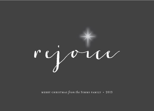 non-photo holiday cards - rejoice by Sara Hicks Malone