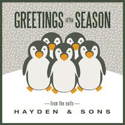 Season's Greetings from the suits