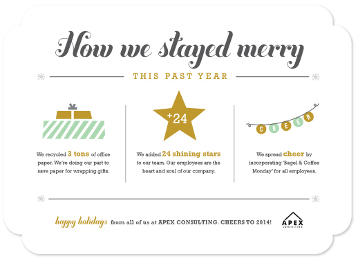 Business holiday cards how we stayed merry year in review at business holiday cards how we stayed merry year in review by carolyn maclaren colourmoves Choice Image