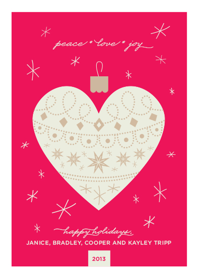 non-photo holiday cards - Swede Heart by Shari Margolin