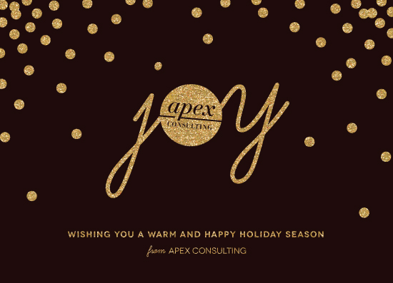 business holiday cards - Glittering Joy by Four Wet Feet Studio