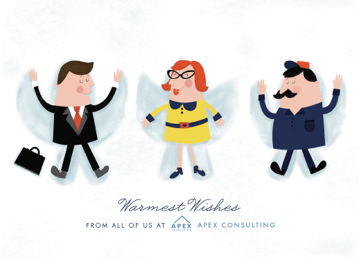 business holiday cards - Snow Day by Pistols