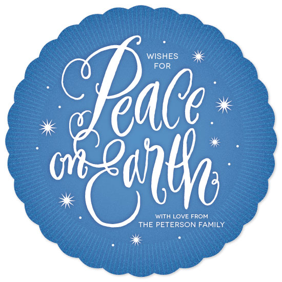 non-photo holiday cards - Peace Aglow by Laura Bolter Design