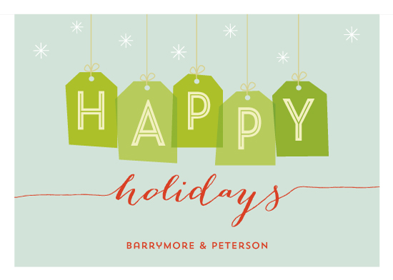 business holiday cards - Happy Tags by Social Grace