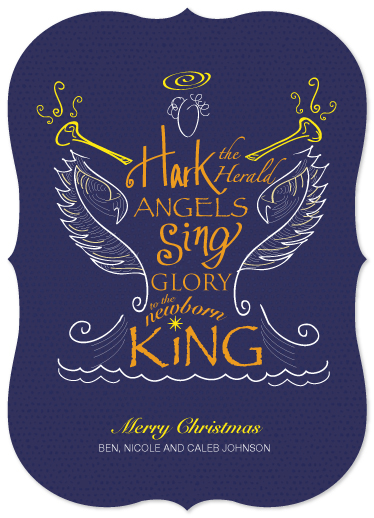 non-photo holiday cards - Hark! The Herald Angels Sing by Ellen Morse