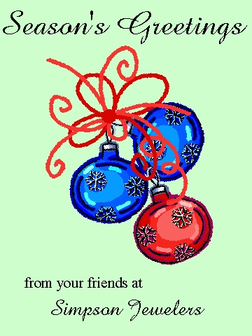 business holiday cards - Three Ornaments by Rose R.