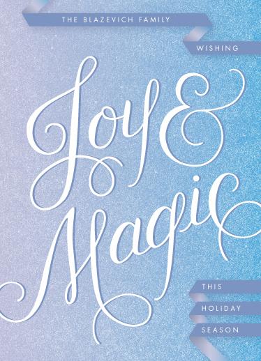 non-photo holiday cards - Wishing Joy & Magic by Jenna Blazevich
