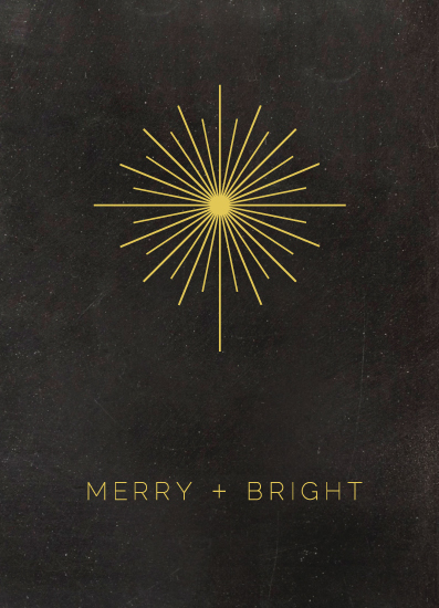 non-photo holiday cards - Star Bright by Amy Favero
