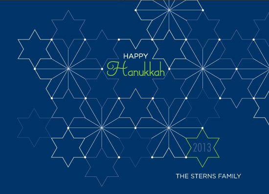 non-photo holiday cards - Abstract Hanukkah by Amy Conover