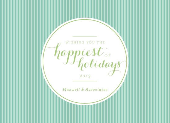 business holiday cards - Classic Stripes by Danielle Tvetan