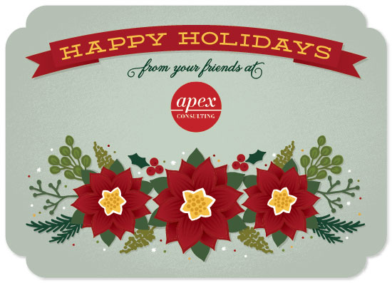 business holiday cards - Poinsettia Arch by Laura Bolter Design