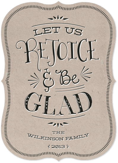 non-photo holiday cards - Rejoice & Be Glad by Wendy Van Ryn