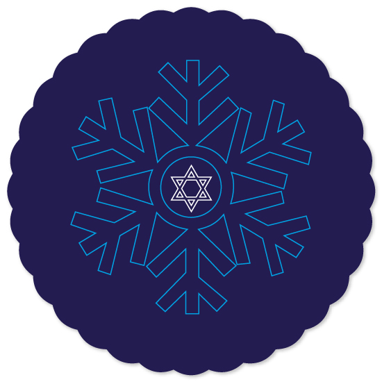 non-photo holiday cards - Hanukkah Snowflake by Inez D - Atelier