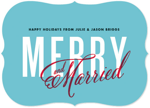 non-photo holiday cards - Merry and Married by Cheer Up Press
