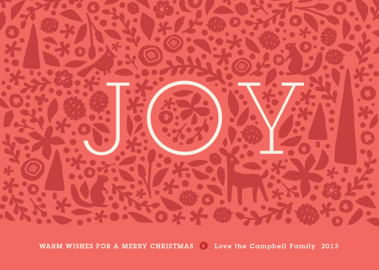 non-photo holiday cards - Handcut Joy by Jennifer Wick