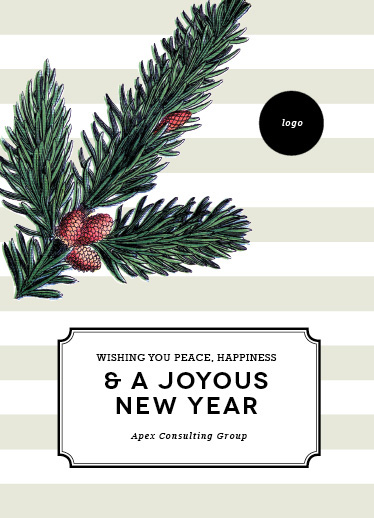 business holiday cards - joyous pine by design market