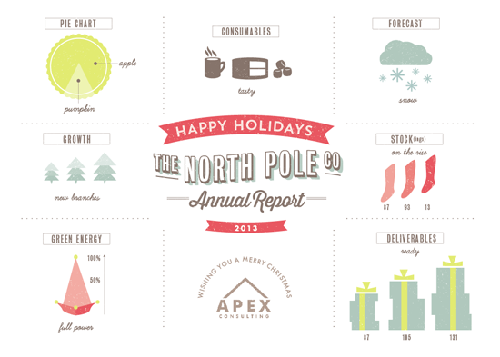 business holiday cards - North Pole Co Annual Report by Lori Wemple