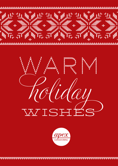 business holiday cards - Warm Holiday Wishes by la de dahm