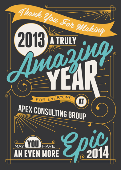 business holiday cards - An Amazing Year by GeekInk Design