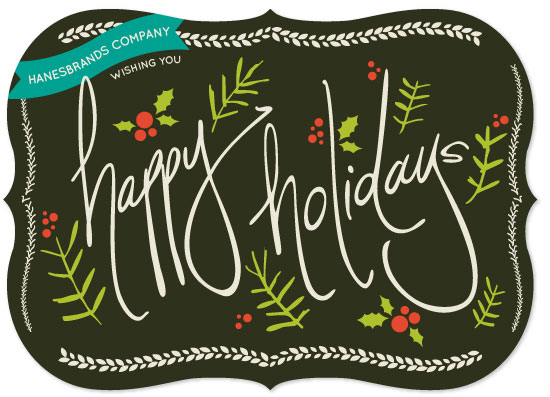 business holiday cards - Jolly Hollydays by Oh Yeah Write