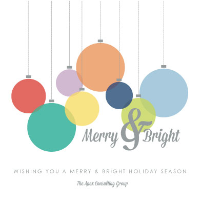 business holiday cards - Bright Ornaments by Marie Day