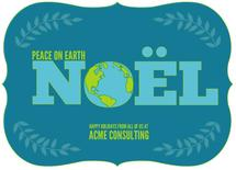 Noel Peace Earth by Kim Hutchinson