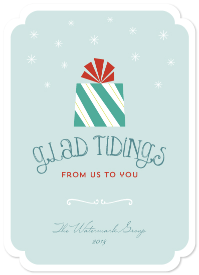 business holiday cards - Glad Tidings by Social Grace