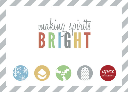 business holiday cards - Brightly Spirited by Marie Day