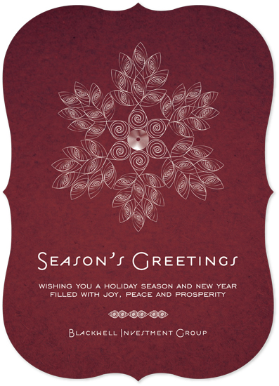 business holiday cards - Deco Snowflake Quilled by Tanyia Johnson