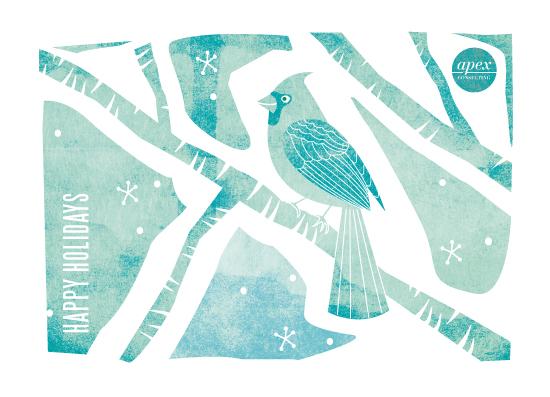 business holiday cards - Christmas bird by Ana de Sousa