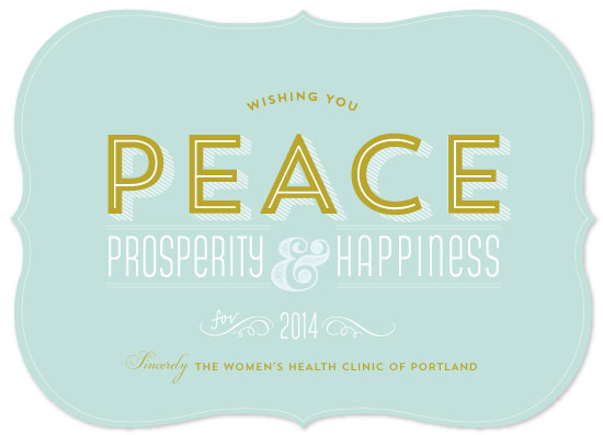 business holiday cards - Peaceful Tranquility by Larkspur Paperie