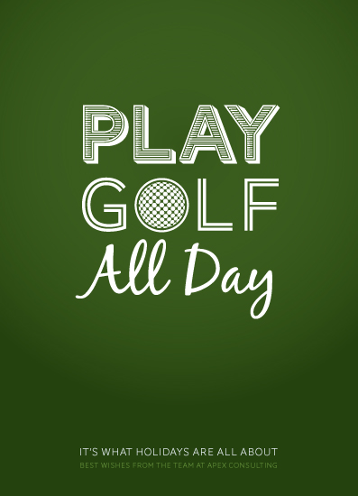 business holiday cards - Play Golf by Mark Wilson