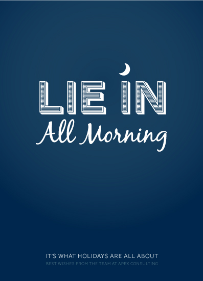 business holiday cards - Long lie in by Mark Wilson