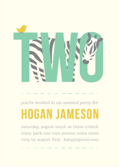 party invitations - Animal Party by Olive and Jude