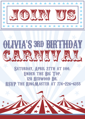 party invitations - Carnival Fun! by Nikkie Gaitan