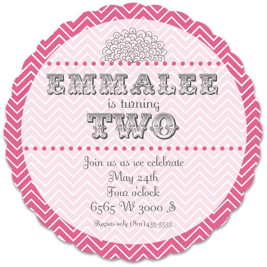 party invitations - Think Pink Chic by Jenny Hadley