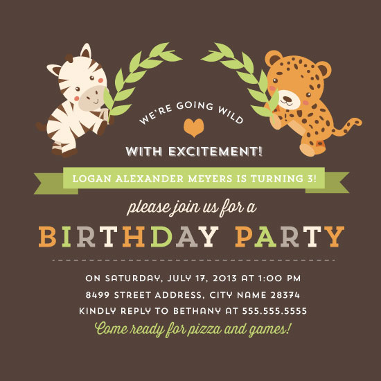 party invitations - Sweet Safari Birthday Party Invitation by Shelby Allison