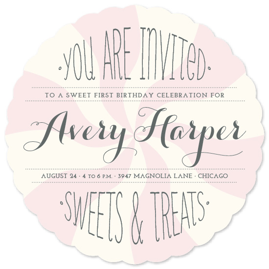 party invitations - Sweet Celebration by Leslie Ann Jones