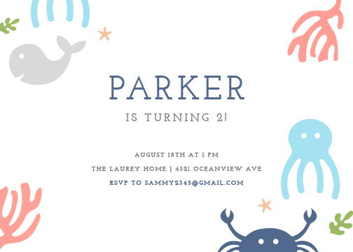 party invitations - under the sea by Stacey Meacham