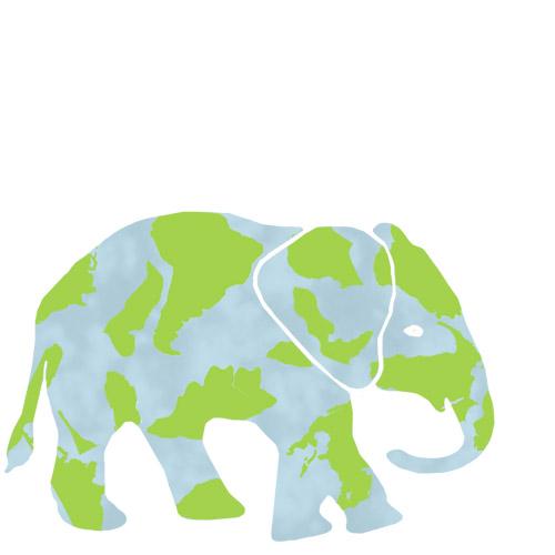 art prints - Earth Elephant by Mayla Studios