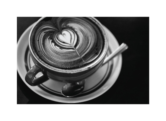 art prints - In Love with Latte Art by Becky Nimoy
