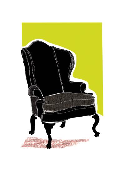 art prints - My Chair by Kristine Hickcox