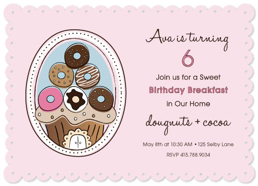 party invitations - Birthday Breakfast by Kimberly Schwede
