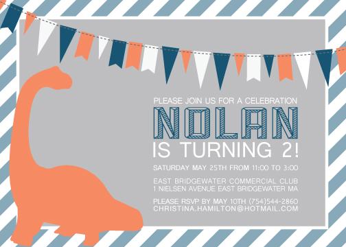 party invitations - Geometric Dino! by Nikkie Gaitan